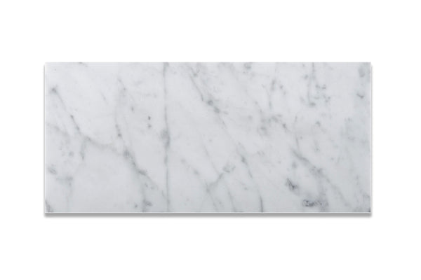 6 X 12 Carrara White Marble Subway Brick Field Tile Honed