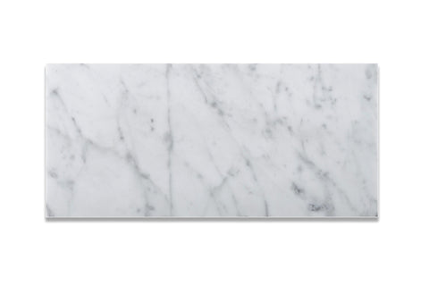 6 X 12 Carrara White Marble Honed Subway Brick Field Tile - American Tile Depot - Commercial and Residential (Interior & Exterior), Indoor, Outdoor, Shower, Backsplash, Bathroom, Kitchen, Deck & Patio, Decorative, Floor, Wall, Ceiling, Powder Room - 1