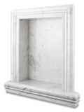 Carrara White Marble Hand-Made Custom Shampoo Niche / Shelf - LARGE - Polished - American Tile Depot - Commercial and Residential (Interior & Exterior), Indoor, Outdoor, Shower, Backsplash, Bathroom, Kitchen, Deck & Patio, Decorative, Floor, Wall, Ceiling, Powder Room - 1