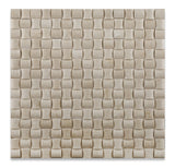 Crema Marfil Marble Polished 3D Small Bread Mosaic Tile - American Tile Depot - Commercial and Residential (Interior & Exterior), Indoor, Outdoor, Shower, Backsplash, Bathroom, Kitchen, Deck & Patio, Decorative, Floor, Wall, Ceiling, Powder Room - 1