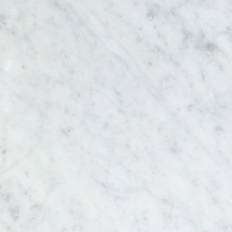 18 X 18 Carrara White Marble Polished Field Tile - American Tile Depot - Shower, Backsplash, Bathroom, Kitchen, Deck & Patio, Decorative, Floor, Wall, Ceiling, Powder Room, Indoor, Outdoor, Commercial, Residential, Interior, Exterior