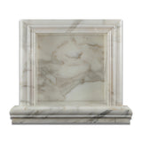Calacatta Gold Marble Hand-Made Custom Shampoo Niche / Shelf - SMALL - Polished - American Tile Depot - Commercial and Residential (Interior & Exterior), Indoor, Outdoor, Shower, Backsplash, Bathroom, Kitchen, Deck & Patio, Decorative, Floor, Wall, Ceiling, Powder Room - 2