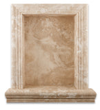 Durango Cream Travertine Hand-Made Custom Shampoo Niche / Shelf - LARGE - Honed - American Tile Depot - Commercial and Residential (Interior & Exterior), Indoor, Outdoor, Shower, Backsplash, Bathroom, Kitchen, Deck & Patio, Decorative, Floor, Wall, Ceiling, Powder Room - 2