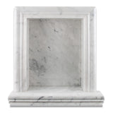 Carrara White Marble Hand-Made Custom Shampoo Niche / Shelf - LARGE - Polished - American Tile Depot - Commercial and Residential (Interior & Exterior), Indoor, Outdoor, Shower, Backsplash, Bathroom, Kitchen, Deck & Patio, Decorative, Floor, Wall, Ceiling, Powder Room - 2