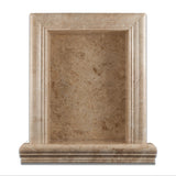 Cappuccino Marble Hand-Made Custom Shampoo Niche / Shelf - LARGE - Polished - American Tile Depot - Commercial and Residential (Interior & Exterior), Indoor, Outdoor, Shower, Backsplash, Bathroom, Kitchen, Deck & Patio, Decorative, Floor, Wall, Ceiling, Powder Room - 2