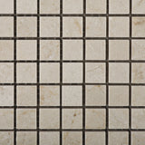 5/8 X 5/8 Crema Marfil Marble Honed Mosaic Tile - American Tile Depot - Commercial and Residential (Interior & Exterior), Indoor, Outdoor, Shower, Backsplash, Bathroom, Kitchen, Deck & Patio, Decorative, Floor, Wall, Ceiling, Powder Room - 2