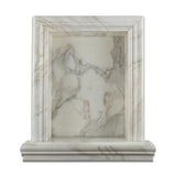 Calacatta Gold Marble Hand-Made Custom Shampoo Niche / Shelf - LARGE - Honed - American Tile Depot - Commercial and Residential (Interior & Exterior), Indoor, Outdoor, Shower, Backsplash, Bathroom, Kitchen, Deck & Patio, Decorative, Floor, Wall, Ceiling, Powder Room - 2