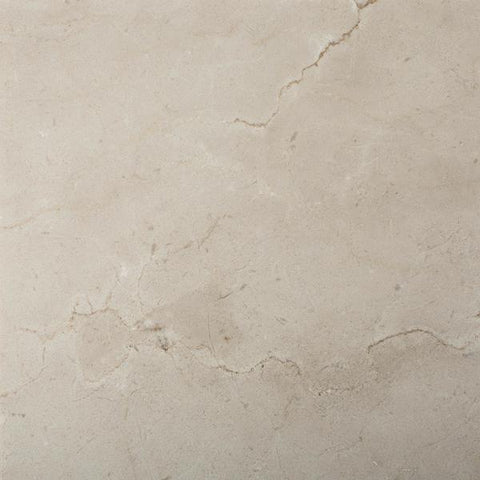 18 X 18 Crema Marfil Marble Honed Field Tile