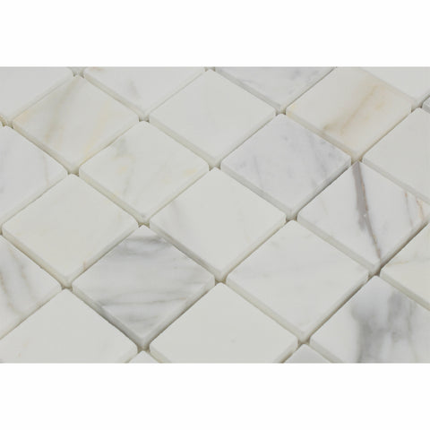 2 X 2 Calacatta Gold Marble Mosaic Tile Honed