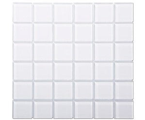 2 X 2 White Glass Mosaic Tile - American Tile Depot - Shower, Backsplash, Bathroom, Kitchen, Deck & Patio, Decorative, Floor, Wall, Ceiling, Powder Room, Indoor, Outdoor, Commercial, Residential, Interior, Exterior