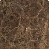 6 X 6 Emperador Dark Marble Tumbled Field Tile