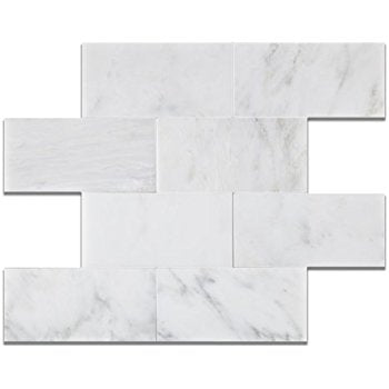 12 X 24 Oriental White / Asian Statuary Marble Honed Field Tile - American Tile Depot - Shower, Backsplash, Bathroom, Kitchen, Deck & Patio, Decorative, Floor, Wall, Ceiling, Powder Room, Indoor, Outdoor, Commercial, Residential, Interior, Exterior