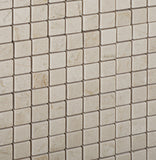 5/8 X 5/8 Crema Marfil Marble Honed Mosaic Tile - American Tile Depot - Commercial and Residential (Interior & Exterior), Indoor, Outdoor, Shower, Backsplash, Bathroom, Kitchen, Deck & Patio, Decorative, Floor, Wall, Ceiling, Powder Room - 3