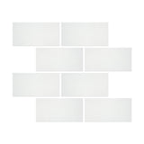 3 X 6 Thassos White Marble Polished Subway Brick Field Tile - American Tile Depot - Shower, Backsplash, Bathroom, Kitchen, Deck & Patio, Decorative, Floor, Wall, Ceiling, Powder Room, Indoor, Outdoor, Commercial, Residential, Interior, Exterior