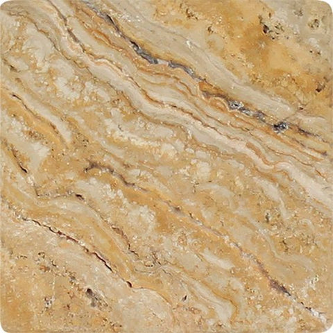 4 X 4 Valencia Travertine Tumbled Field Tile
