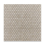 "Crema Marfil Marble Polished 1"" Mini Hexagon Mosaic Tile - American Tile Depot - Commercial and Residential (Interior & Exterior), Indoor, Outdoor, Shower, Backsplash, Bathroom, Kitchen, Deck & Patio, Decorative, Floor, Wall, Ceiling, Powder Room - 4"