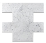 6 X 12 Carrara White Marble Honed Subway Brick Field Tile - American Tile Depot - Commercial and Residential (Interior & Exterior), Indoor, Outdoor, Shower, Backsplash, Bathroom, Kitchen, Deck & Patio, Decorative, Floor, Wall, Ceiling, Powder Room - 2