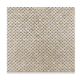 Crema Marfil Marble Polished Fan Mosaic Tile - American Tile Depot - Commercial and Residential (Interior & Exterior), Indoor, Outdoor, Shower, Backsplash, Bathroom, Kitchen, Deck & Patio, Decorative, Floor, Wall, Ceiling, Powder Room - 4