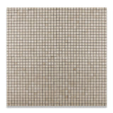 5/8 X 5/8 Crema Marfil Marble Honed Mosaic Tile - American Tile Depot - Commercial and Residential (Interior & Exterior), Indoor, Outdoor, Shower, Backsplash, Bathroom, Kitchen, Deck & Patio, Decorative, Floor, Wall, Ceiling, Powder Room - 4