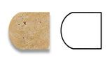 Gold / Yellow Travertine Honed 3/4 X 12 Bullnose Liner - American Tile Depot - Commercial and Residential (Interior & Exterior), Indoor, Outdoor, Shower, Backsplash, Bathroom, Kitchen, Deck & Patio, Decorative, Floor, Wall, Ceiling, Powder Room - 4