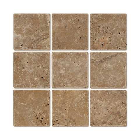4 X 4 Noce Travertine Honed Field Tile
