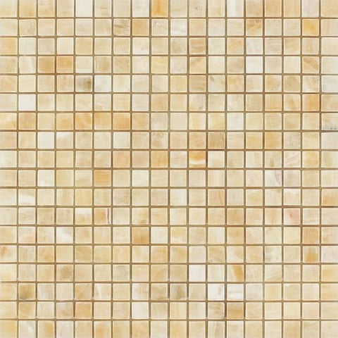 5/8 X 5/8 Honey Onyx Polished Mosaic Tile