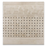 Crema Marfil Marble Polished Basketweave Mosaic Tile w/ Emperador Dark Dots - American Tile Depot - Commercial and Residential (Interior & Exterior), Indoor, Outdoor, Shower, Backsplash, Bathroom, Kitchen, Deck & Patio, Decorative, Floor, Wall, Ceiling, Powder Room - 5
