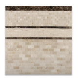5/8 X 5/8 Crema Marfil Marble Polished Mosaic Tile - American Tile Depot - Commercial and Residential (Interior & Exterior), Indoor, Outdoor, Shower, Backsplash, Bathroom, Kitchen, Deck & Patio, Decorative, Floor, Wall, Ceiling, Powder Room - 5