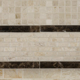 5/8 X 5/8 Crema Marfil Marble Polished Mosaic Tile - American Tile Depot - Commercial and Residential (Interior & Exterior), Indoor, Outdoor, Shower, Backsplash, Bathroom, Kitchen, Deck & Patio, Decorative, Floor, Wall, Ceiling, Powder Room - 6