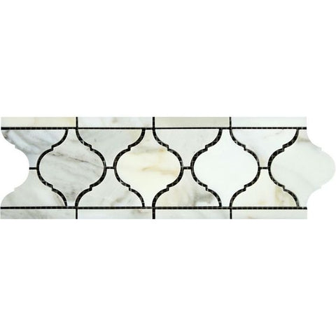 Calacatta Gold Marble Honed Lantern Border