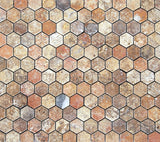 Scabos Travertine Tumbled 2'' Hexagon Mosaic Tile - American Tile Depot - Commercial and Residential (Interior & Exterior), Indoor, Outdoor, Shower, Backsplash, Bathroom, Kitchen, Deck & Patio, Decorative, Floor, Wall, Ceiling, Powder Room - 4