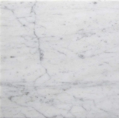 4 X 4 Carrara White Marble Honed Field Tile