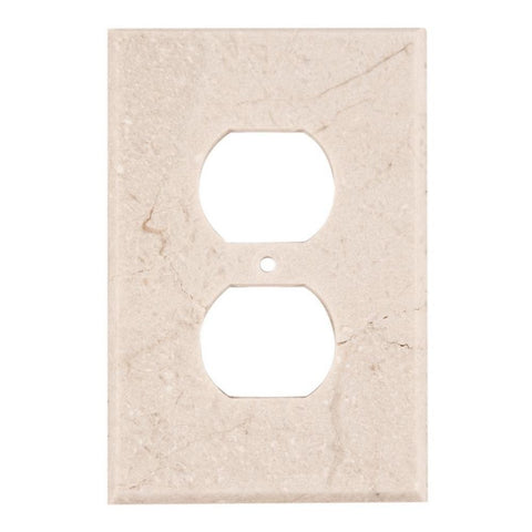 Crema Marfil Marble Single Duplex Switch Wall Plate / Switch Plate / Cover