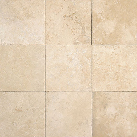 4 X 4 Ivory Travertine Filled & Honed Field Tile