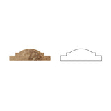 Noce Travertine Arch / Baldwin Trim Molding Honed- American Tile Depot