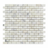 Calacatta Gold Marble Polished Baby Brick Mosaic Tile - American Tile Depot - Commercial and Residential (Interior & Exterior), Indoor, Outdoor, Shower, Backsplash, Bathroom, Kitchen, Deck & Patio, Decorative, Floor, Wall, Ceiling, Powder Room - 1