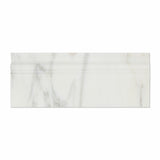 Calacatta Gold Marble Polished Baseboard Trim Molding - American Tile Depot - Commercial and Residential (Interior & Exterior), Indoor, Outdoor, Shower, Backsplash, Bathroom, Kitchen, Deck & Patio, Decorative, Floor, Wall, Ceiling, Powder Room - 2