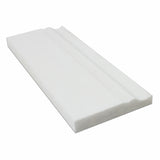 Thassos White Marble Polished Baseboard Trim Molding - American Tile Depot - Commercial and Residential (Interior & Exterior), Indoor, Outdoor, Shower, Backsplash, Bathroom, Kitchen, Deck & Patio, Decorative, Floor, Wall, Ceiling, Powder Room - 1