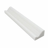Thassos White Marble Honed Crown - Mercer Molding Trim - American Tile Depot - Commercial and Residential (Interior & Exterior), Indoor, Outdoor, Shower, Backsplash, Bathroom, Kitchen, Deck & Patio, Decorative, Floor, Wall, Ceiling, Powder Room - 1
