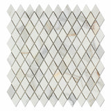 "Calacatta Gold Marble Polished 1"" Diamond Mosaic Tile - American Tile Depot - Commercial and Residential (Interior & Exterior), Indoor, Outdoor, Shower, Backsplash, Bathroom, Kitchen, Deck & Patio, Decorative, Floor, Wall, Ceiling, Powder Room - 1"