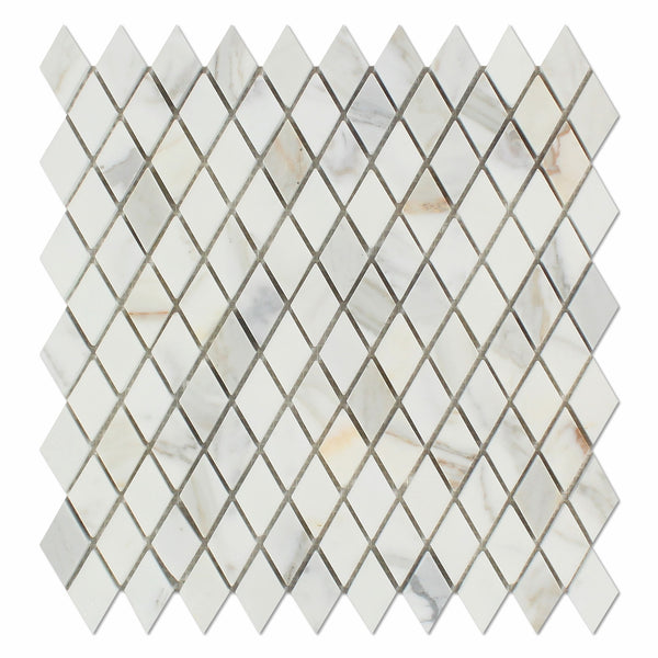 Calacatta Gold Marble 1 Quot Diamond Mosaic Tile Honed