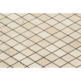 "Crema Marfil Marble Honed 1"" Diamond Mosaic Tile - American Tile Depot - Commercial and Residential (Interior & Exterior), Indoor, Outdoor, Shower, Backsplash, Bathroom, Kitchen, Deck & Patio, Decorative, Floor, Wall, Ceiling, Powder Room - 2"