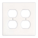 Thassos White Marble Double Duplex Switch Wall Plate / Switch Plate-Polished