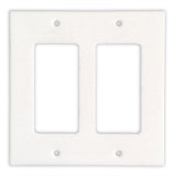 Thassos White Marble Double Rocker Switch Wall Plate / Switch Plate-Honed