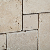 Ivory Travertine 4-Pieced OPUS Mini-Pattern Tumbled Mosaic Tile - American Tile Depot - Commercial and Residential (Interior & Exterior), Indoor, Outdoor, Shower, Backsplash, Bathroom, Kitchen, Deck & Patio, Decorative, Floor, Wall, Ceiling, Powder Room - 2