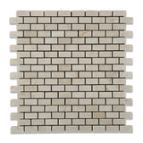 Crema Marfil Marble Honed Baby Brick Mosaic Tile - American Tile Depot - Commercial and Residential (Interior & Exterior), Indoor, Outdoor, Shower, Backsplash, Bathroom, Kitchen, Deck & Patio, Decorative, Floor, Wall, Ceiling, Powder Room - 1