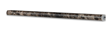 Emperador Dark Marble Polished 1/2 X 12 Pencil Liner - American Tile Depot - Commercial and Residential (Interior & Exterior), Indoor, Outdoor, Shower, Backsplash, Bathroom, Kitchen, Deck & Patio, Decorative, Floor, Wall, Ceiling, Powder Room - 1