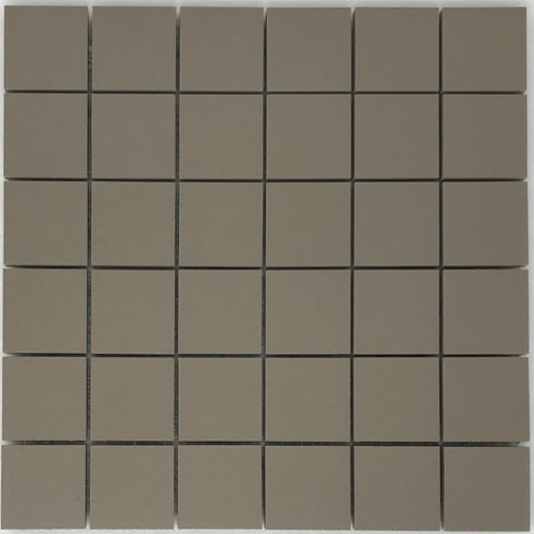 2 X 2 Porcelain Light Brown Matte  Mosaic Tile - American Tile Depot - Shower, Backsplash, Bathroom, Kitchen, Deck & Patio, Decorative, Floor, Wall, Ceiling, Powder Room, Indoor, Outdoor, Commercial, Residential, Interior, Exterior