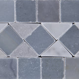 Carrara White Marble Polished BIAS Border Listello w/ Blue-Gray Dots - American Tile Depot - Commercial and Residential (Interior & Exterior), Indoor, Outdoor, Shower, Backsplash, Bathroom, Kitchen, Deck & Patio, Decorative, Floor, Wall, Ceiling, Powder Room - 2