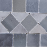Carrara White Marble Polished BIAS Border Listello w/ Blue-Gray Dots - American Tile Depot - Commercial and Residential (Interior & Exterior), Indoor, Outdoor, Shower, Backsplash, Bathroom, Kitchen, Deck & Patio, Decorative, Floor, Wall, Ceiling, Powder Room - 3